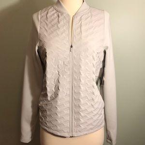 Light Gray Athletic Full Zip Jacket